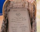 Vintage Wedding Programs - Custom Wedding Programs - Kraft Programs - Rustic Wedding - Vintage Wedding