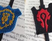 Warcraft Horde or Alliance Crest Elastic Bookmark