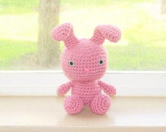 Sweet Bunny - Rose Pink Crochet Bunny