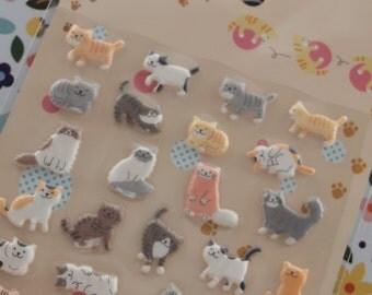 3D Lovely Cat Sticker (1 sheet)