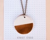 Minimalist ceramic pendant, Geometric necklace pendant, Ceramic jewelry, Ceramics & pottery, Ceramic jewellery, Geometric necklace ooak