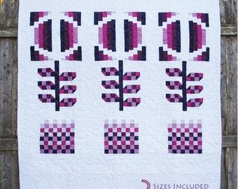 iQuilt Modern - Modern Bloom Quilt Pattern