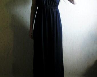 20% OFF VALENTINE'S SALE - awake - organic cotton bamboo black bohemian chic hippie maxi boho hippie strapless dress small