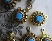 Wonderful Empire Style Vintage Finding With Set Glass Turquoise