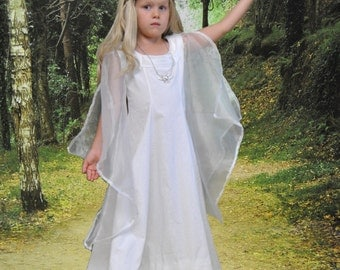My Middle Earth: Galadriel's White Council Dress - Sizes 2T, 3T, 4T, 5, 6, 7, 8 or 10