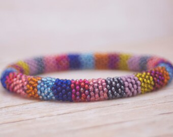 Bead Crochet Bracelet - Multicolor