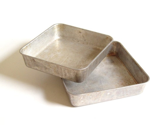 Square Cake Pans Maid of Honor Aluminum Bakeware 9 x 2 or 8 x 2