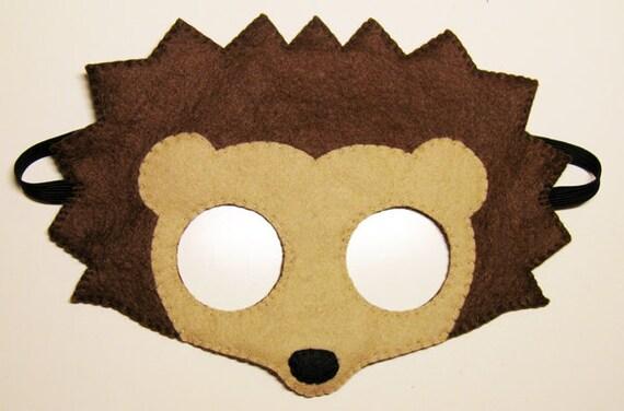 igel f hlte maske braun kinder tier kost m. Black Bedroom Furniture Sets. Home Design Ideas