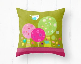 Kids pillow, kids throw pillow, nursery throw pillow, cushion cover, home decor, decorative pillows, kids bedding, children bedding
