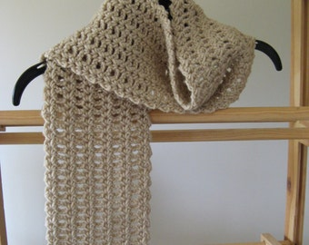Crochet Scarf - Tan