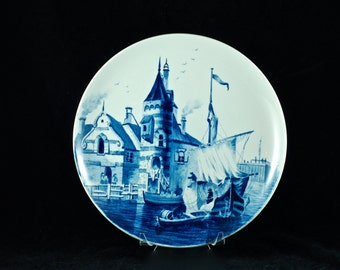 Antique Villeroy & Boch Mettlach Hand Painted Delft Style Charger