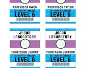 Scientist ID Security Badge Instant Download