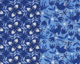 BLUE PORCELAINE  printed organic cotton single jersey