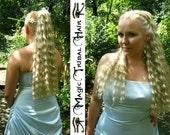 HAIR PIECE Custom color hair extension Natural CURLS hair piece Size M 22''/ 55 cm wedding hair fall Updo wiglet Chignon Bride ponytail wig