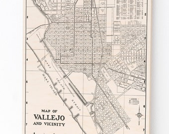 Vallejo map art Etsy