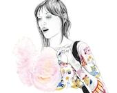 "Shelley Duvall Cotton Candy FINE ART Print, 11"" x 14"""