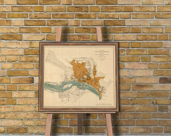 Map of Richmond - Old map of Richmond archival print