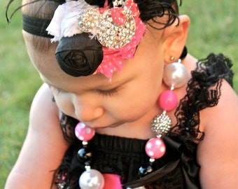 Minnie Mouse Bubblegum Necklace - Minnie Bubblegum Necklace - Minnie Necklace