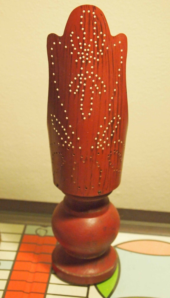 Punched tin candle holder candle holder punched by - Punched metal candle holder ...