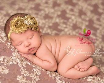 Gold Baby Headband - Gold Silver bows - Wedding Bows - Vintage Headbands - Baby Girl Headbands- Baby Headbands - Sparkle Headbands, silver