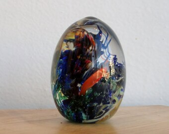 Glass Egg Paperweight - Landscape Series by Jonathan Winfisky