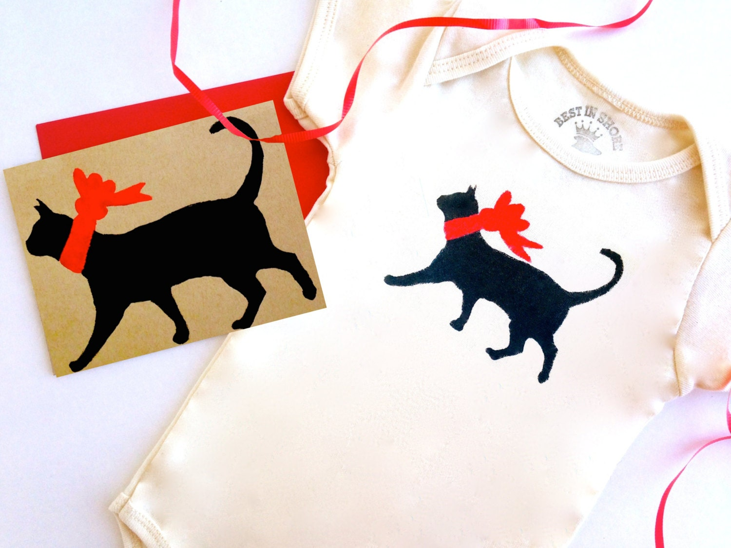 Cat Baby Bodysuit Organic Infant Clothes % to CAT RESCUE New