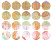 Mono Print Mixed Media Stickers 8 - Round