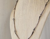 Handcrafted Sterling Silver Bar Link Chain - Metalwork Necklace - Unique Gift For Her - - Custom Made - Hammered - Ethical Silver