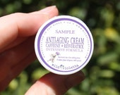 Anti-Aging Face Cream Sample with Caffeine, Resveratrol and Essential Oils // Intensive Eye Cream // Trial Size Natural Shea Face Cream