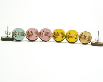 Music Note Earrings - Handmade - Jewelry - Laser Cut - Earrings