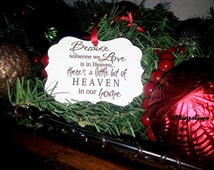 Because Someone We Love Is In Heaven There's A Little Bit Of Heaven In Our Home Christmas Ornament  In Memory Gift, Memorial Ornament