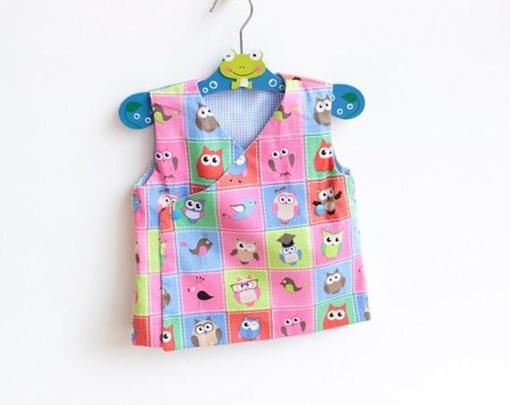 DEER Baby Kimono Top Vest Apron pattern Pdf sewing pattern, Baby Boy Girl pattern, toddler Vest pattern, newborn 3 6 9 12 18 m 2 yrs