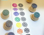 Chakra Symbols Simple Lotus Format XS for Clay Stamping CHAKRA003