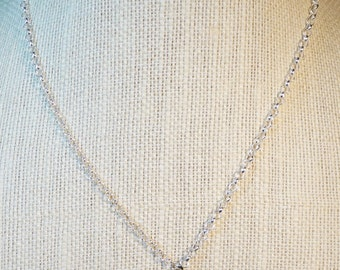 Heart Onyx Pendant Necklace / Onyx Heart Necklace / Valentine's Necklace / Valentine Heart Necklace  / Sterling Silver necklace