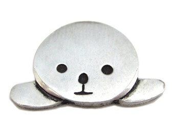 Harp Seal Necklace - Pewter Seal Pendant