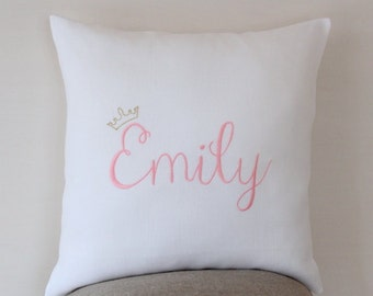 Princess pillow Personalized baby pillow, personalized gift, baby shower, baby gift, Kids pillows, Girls pillow