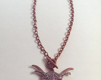 Scrolled Longhorn Necklace