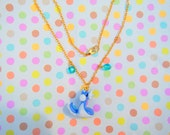 Kawaii Dratini Pokemon Jewelry Necklace