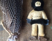 SALE- Handmade Alaska Inuit Doll Souvenir of Alaska