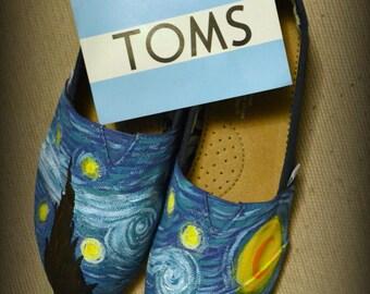 Custom Van Gogh Starry Night Custom TOMS Shoes