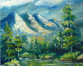 Landscape original oil painting