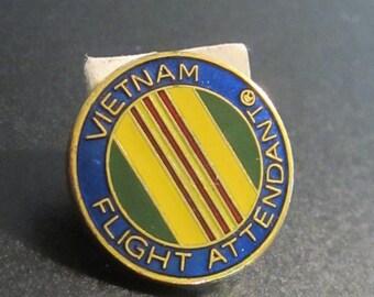 Vietnam Flight Attendant PIN Eastern Airlines MAC Civilian Military War Badge