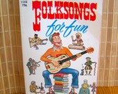 "Vintage 60's ""FOLKSONGS For Fun"" Edited by OSCAR BRAND Sing-a-long Tunes"