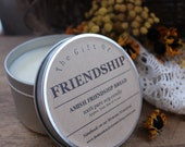 RESERVED order for Corrine - 8 - The Gift of FRIENDSHIP soy tin candles Amish Friendship Bread candle