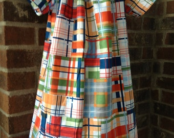 Peasant Dress - Girl, Toddler Girl, Baby Girl - Available in size 12M thru 7/8 - Madras Plaid