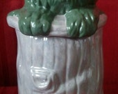 "Oscar Grouch Cookie Jar-Ceramic-11""T-Handcrafted"