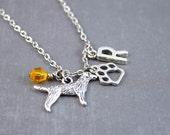 Personalized Dog Necklace - Golden Retriever Necklace - Pet Loss Jewelry - Dog Jewelry - Pet Necklace - Animal Necklace - Dog Pendant