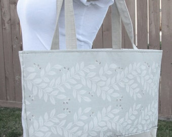 Floral and Linen Tote Bage