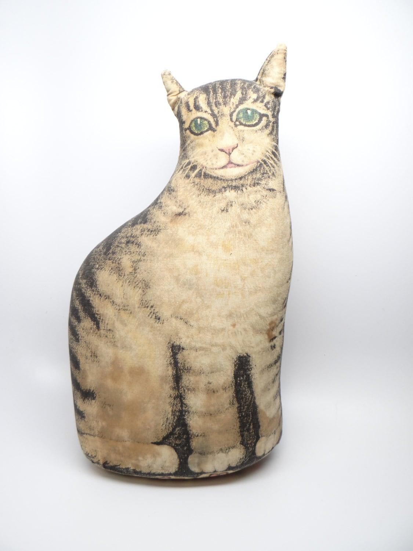 1920 39 s cat door stop stuffed cotton cat printed on cotton - Cat door stoppers ...
