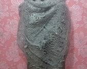 Square Orenburg Hand Knitted Shawl Wrap